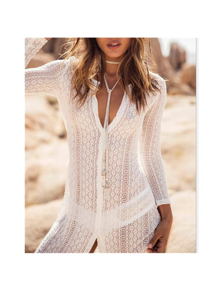 White Lace Coverup Dress